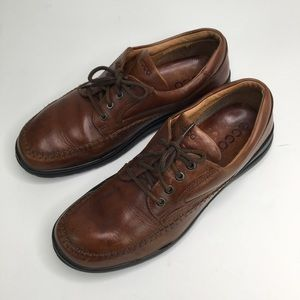 Ecco brown leather dress shoe sneakers size 10